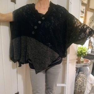 Ladies boutique lace kimono top by pretty angle